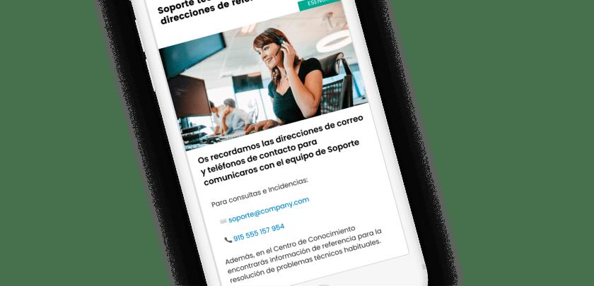Enlaces tipo email y teléfono en Dialenga