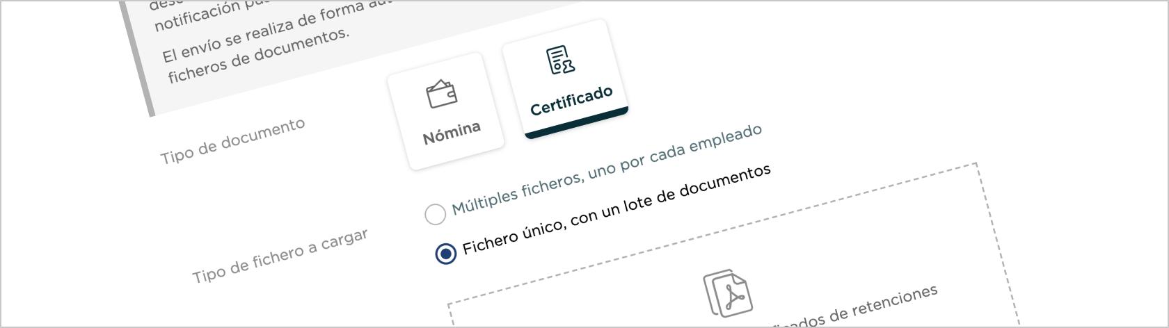 Envío de certificados de retenciones